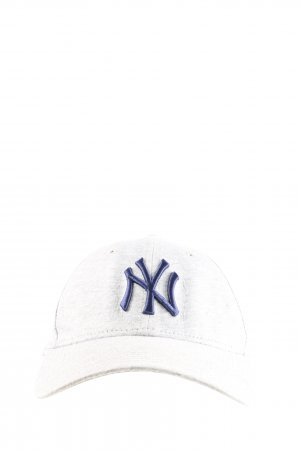 New Era Baseball Cap light grey-blue flecked casual look