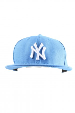 New Era Gorra de béisbol azul-blanco letras bordadas look casual