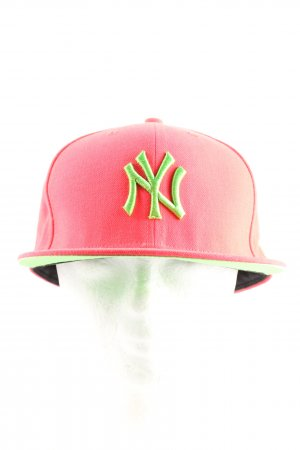 New Era Gorra de béisbol rosa-verde look casual