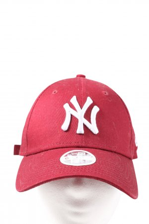 New Era Berretto da baseball rosso-bianco stile casual