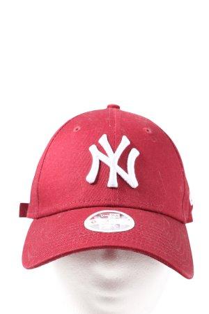 New Era Basecap rot-weiß Casual-Look