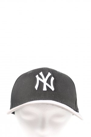 New Era Gorra de béisbol negro-blanco puro look casual