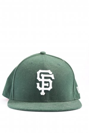 New Era Baseball Cap green themed print casual look