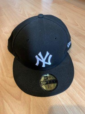 New Era Casquette de baseball noir-blanc coton