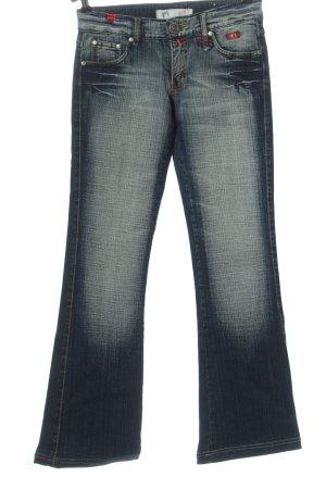 New Fashion Jeans a zampa d'elefante blu stile casual