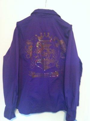 John Baner Blusa-camisa lila Algodón