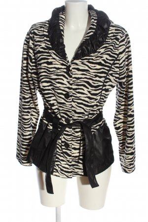 New Jersey Blusenjacke wollweiß-schwarz Animalmuster Elegant