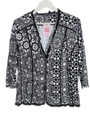 New Jersey Veste chemise noir-blanc imprimé allover style décontracté