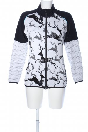 Strickjacke weiß-schwarz Animalmuster Casual-Look