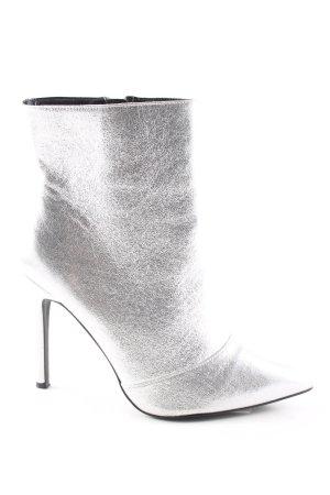 New Look Absatz Stiefel silberfarben extravaganter Stil