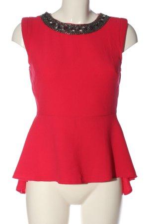 New Look ärmellose Bluse rot Elegant