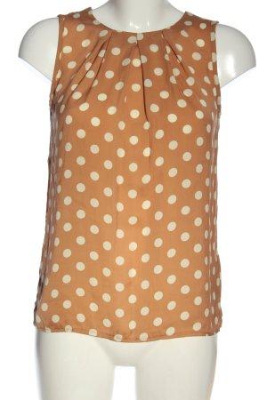 New Look Blusa senza maniche arancione chiaro-bianco stampa integrale elegante