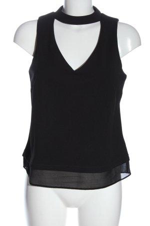 New Look ärmellose Bluse schwarz Casual-Look