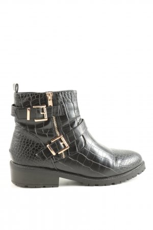 New Look Ankle Boots schwarz Animalmuster Casual-Look