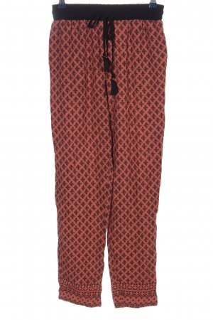New Look Baggy Pants pink-black allover print casual look