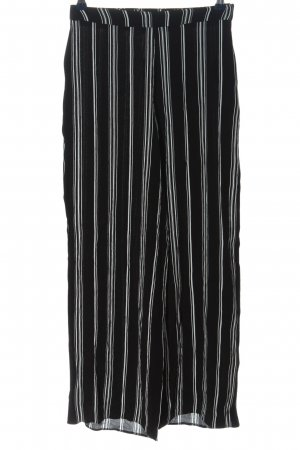 New Look Baggy Pants black-white striped pattern casual look