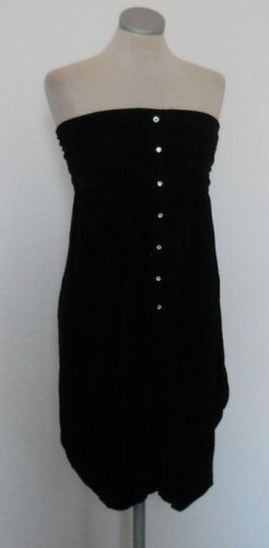 New Look Bandeaukleid Minikleid schwarz Gr. 36 38 S M UK 10 gothic