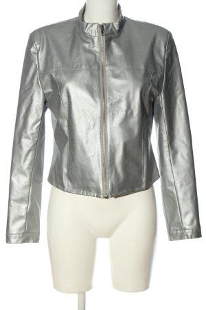 New Look Giacca da motociclista argento stile casual