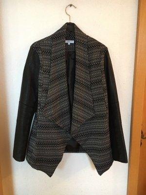 New Look Blazer en cuir noir-blanc