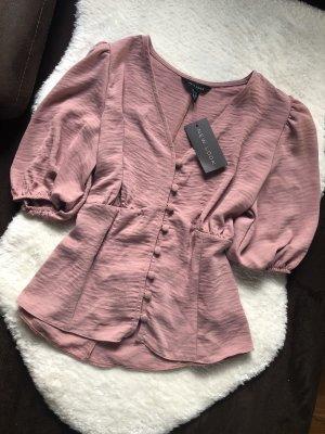 New Look Bluse mit Puffärmel Größe 12 40 L