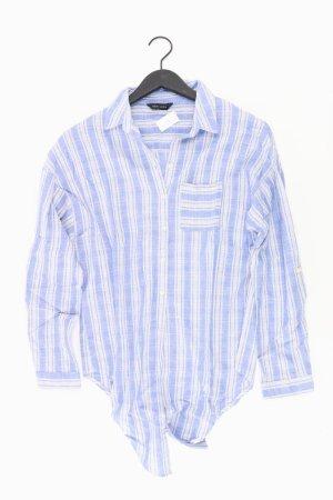 New Look Bluse zum Binden blau Größe M