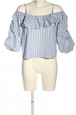 New Look Blouse topje blauw-wit gestreept patroon casual uitstraling