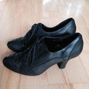 New Look Patucos con cordones negro Cuero