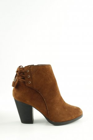 New Look Booties braun-schwarz Casual-Look