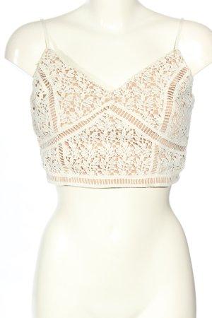 New Look Top tipo bustier nude-blanco estampado floral look casual