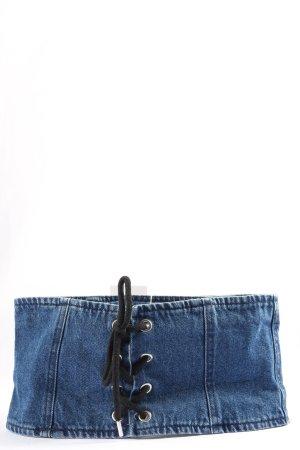 New Look Canvas Belt blue-black casual look