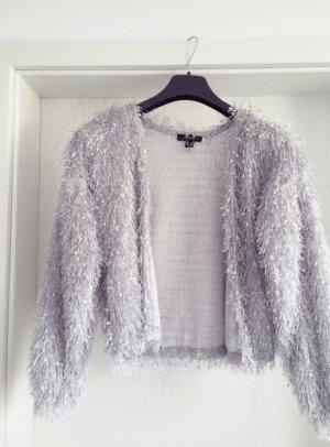 New Look Veste en tricot argenté