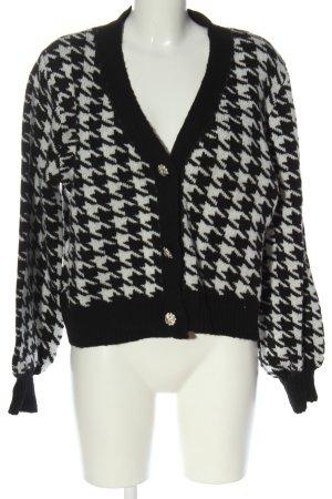 New Look Cardigan nero-bianco stampa integrale stile casual