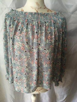 New Look Blusa tipo Carmen rosa claro-azul celeste