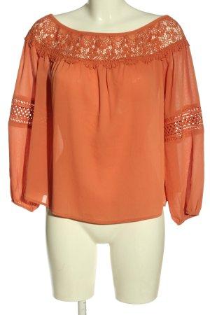 New Look Blouse Carmen orange clair élégant