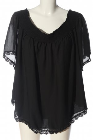 New Look Carmen-Bluse schwarz Casual-Look