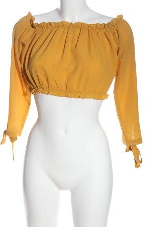 New Look Blusa tipo Carmen amarillo pálido elegante