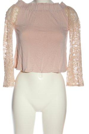 New Look Top épaules dénudées rose-rose chair style décontracté