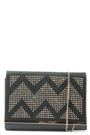 New Look Clutch zwart-zilver grafisch patroon elegant