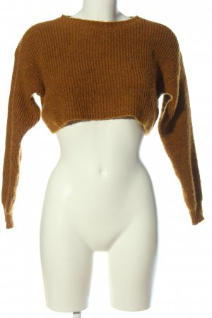 New Look Cropped Pullover braun Casual-Look