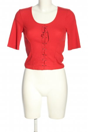 New Look Cropped Shirt rot Casual-Look