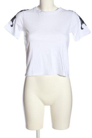 New Look T-Shirt weiß-schwarz Casual-Look