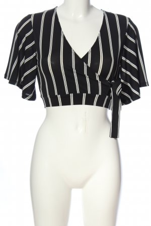 New Look Cropped Shirt black-white allover print casual look