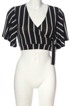 New Look Cropped shirt zwart-wit volledige print casual uitstraling