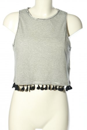 New Look Cropped Top schwarz-weiß Streifenmuster Casual-Look