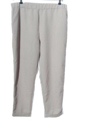 New Look Pantalon en jersey gris clair-blanc style décontracté