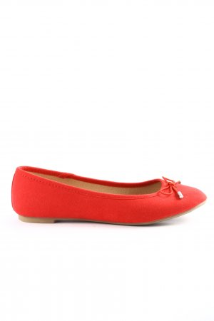 New Look faltbare Ballerinas rot Casual-Look