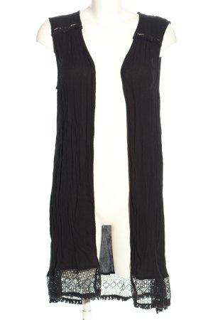 New Look Franjevest zwart casual uitstraling