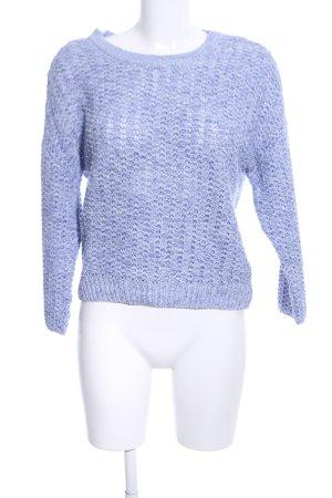 New Look Grobstrickpullover blau meliert Casual-Look