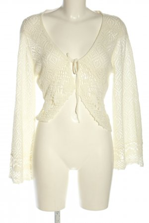 New Look Crochet Cardigan natural white elegant