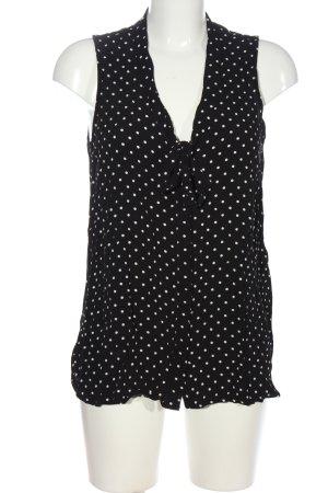 New Look Hemd-Bluse schwarz-weiß Allover-Druck Casual-Look